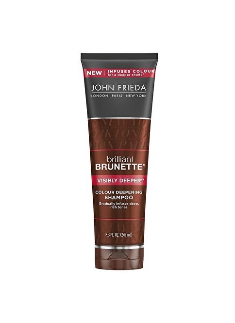 John Frieda Brilliant Brunette Visibly Deeper Colour - Kahverengi Saçlar İçin Bakım Şampuanı 250 Ml Renksiz